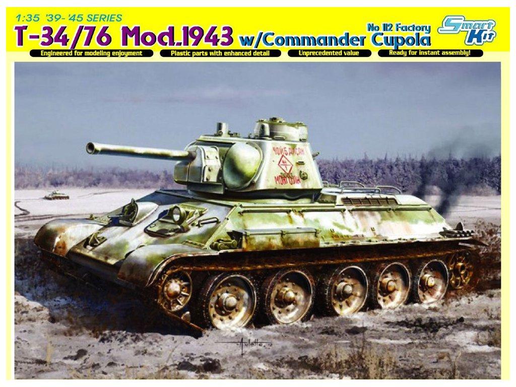 T-34/76 Mod. 1943 w/Commander Cupola 1:35