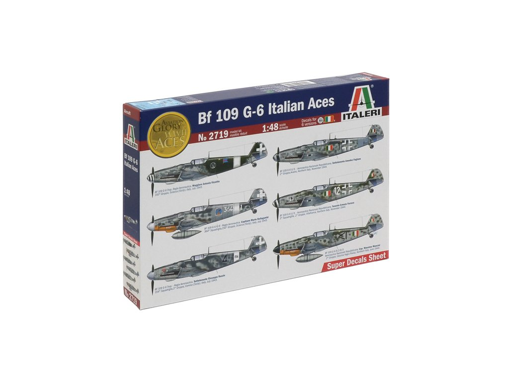 Model Kit letadlo 2719 BF 109 G 6 ITALIAN ACES 1 48 a64213701 10374