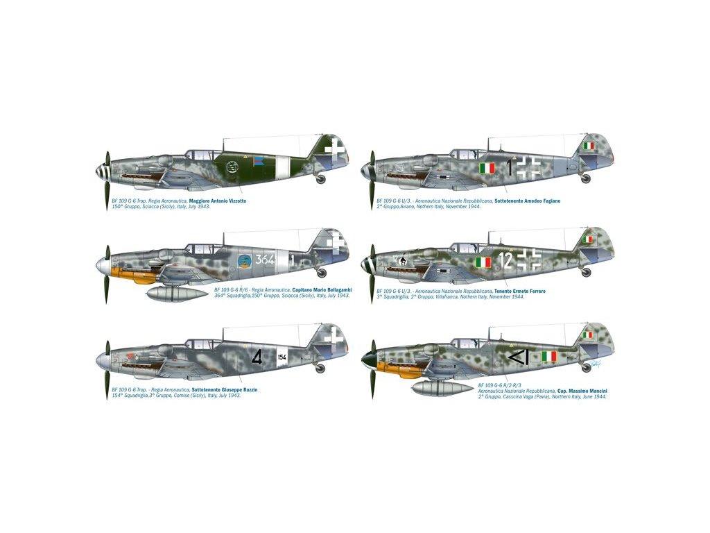 Messerschmitt Bf 109 G-6 Italian Acces 1:48