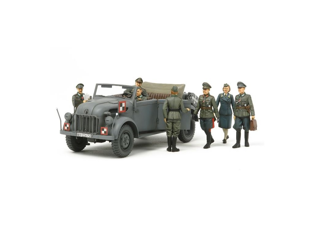 German Steyr 1500A w/7 Figures - Kommandeurwagen HQ Staff Set 1:35