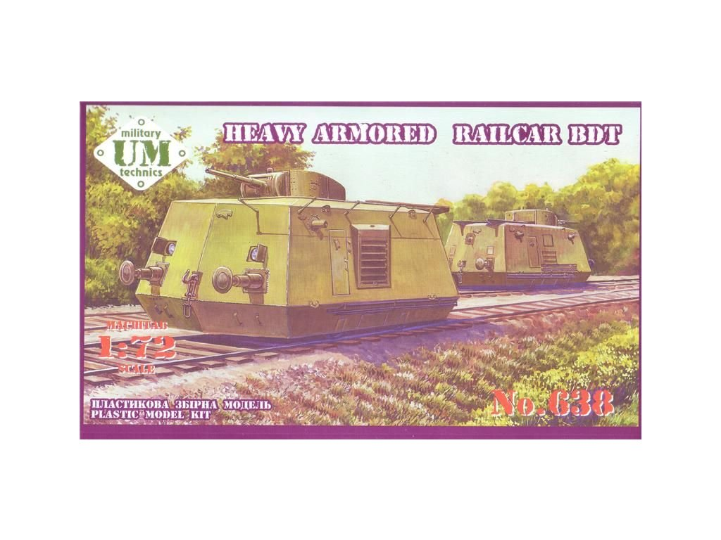 Heavy Armored Railcar BDT 1:72