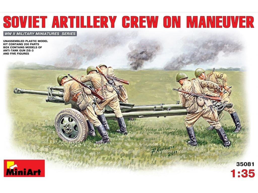 Soviet Artilery Crew On Maneuver + Zis-3 / sovietskí delostrelci pri presune 1:35