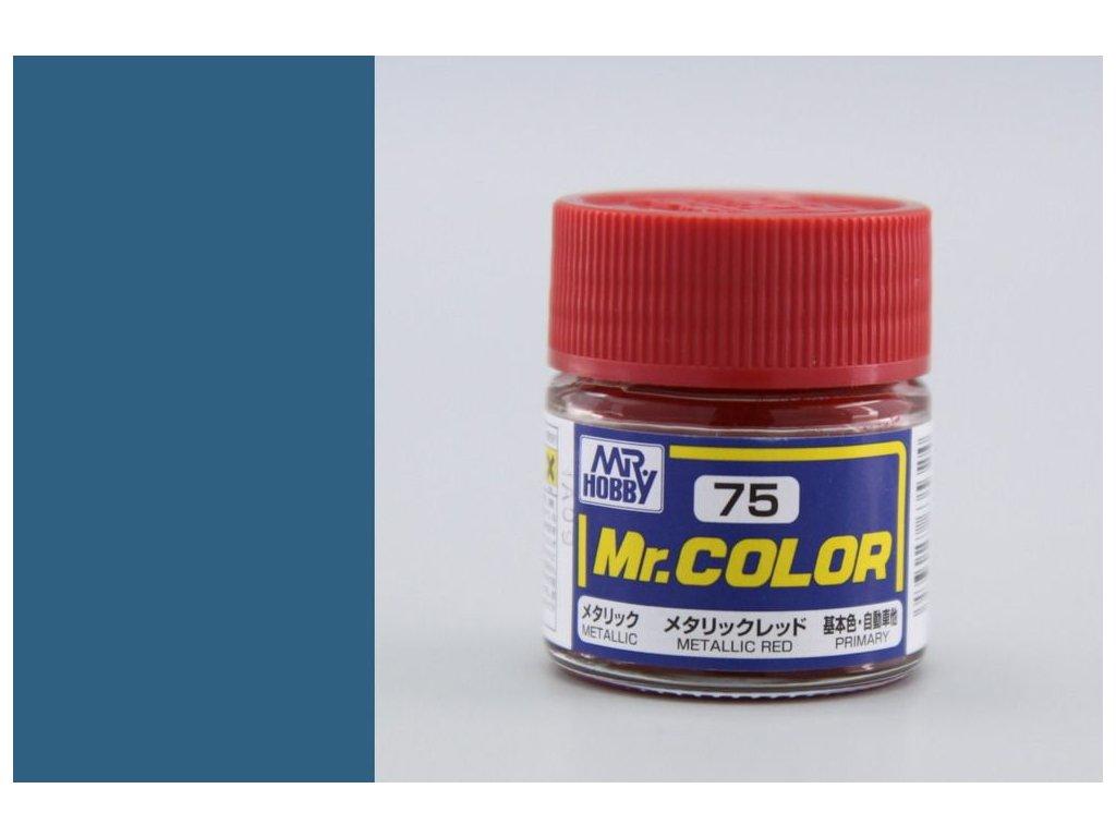 C075 Metallic Red -  kovovo červená