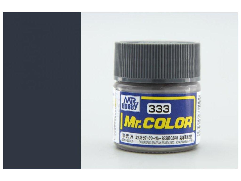 C333 extra tmavá morská šedá BS381C/640