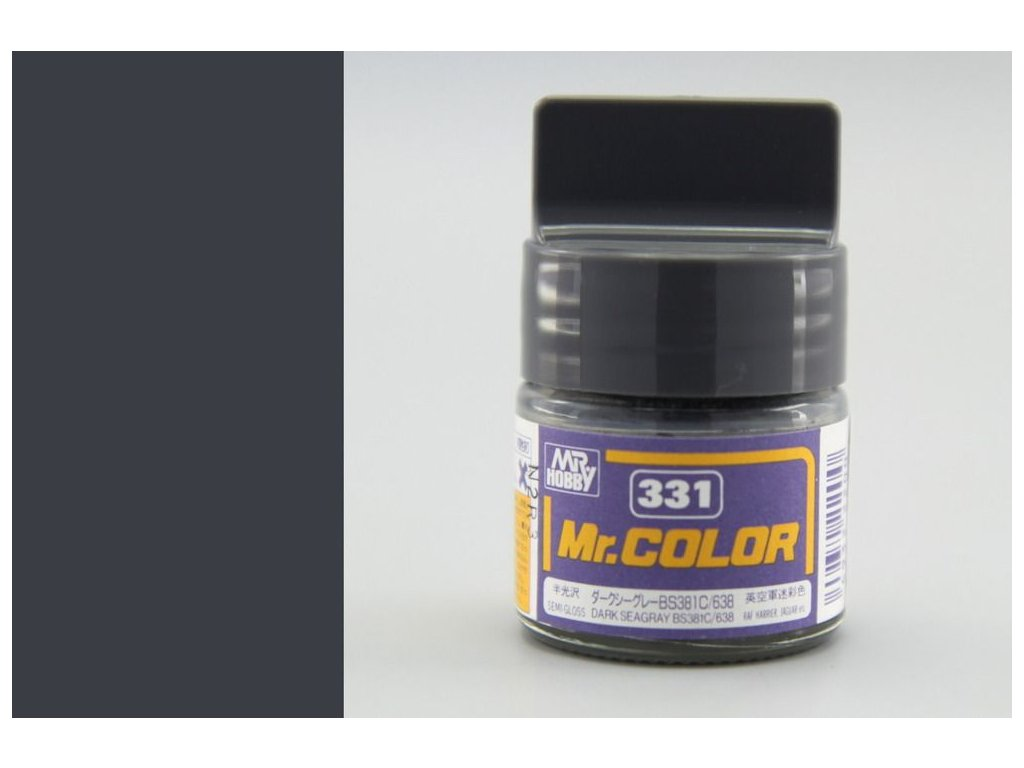C331 tmavá morská šedá BS381C/638