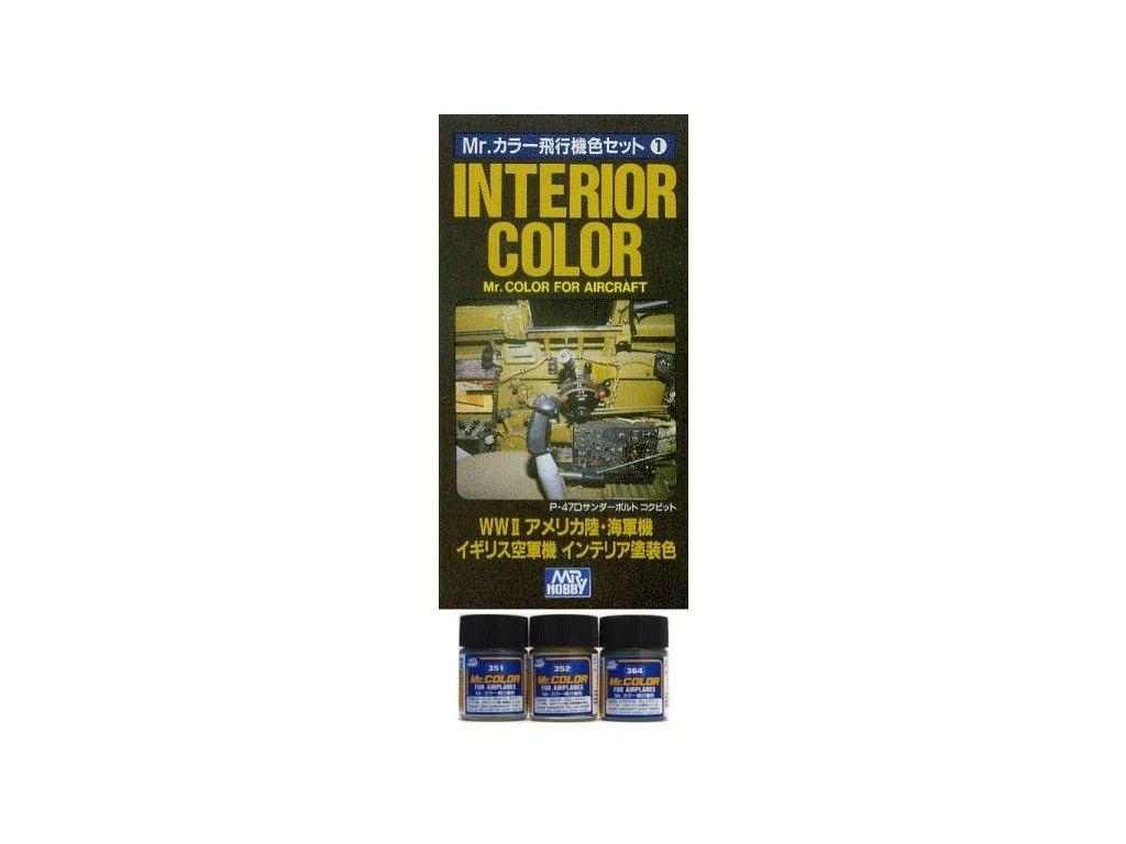 CS681 Interior Color For Aircraft (WWII) - Interiérová sada farieb