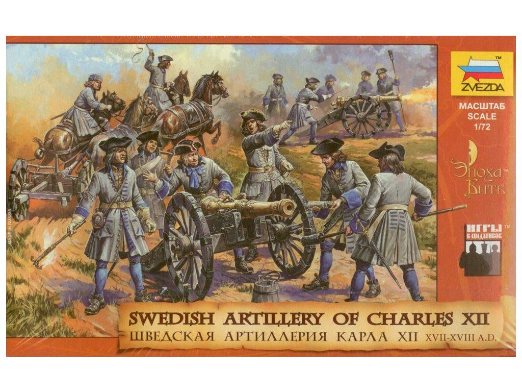 Swedish Artillery Of Charles XII. / Švédske delostrelectvo 1:72