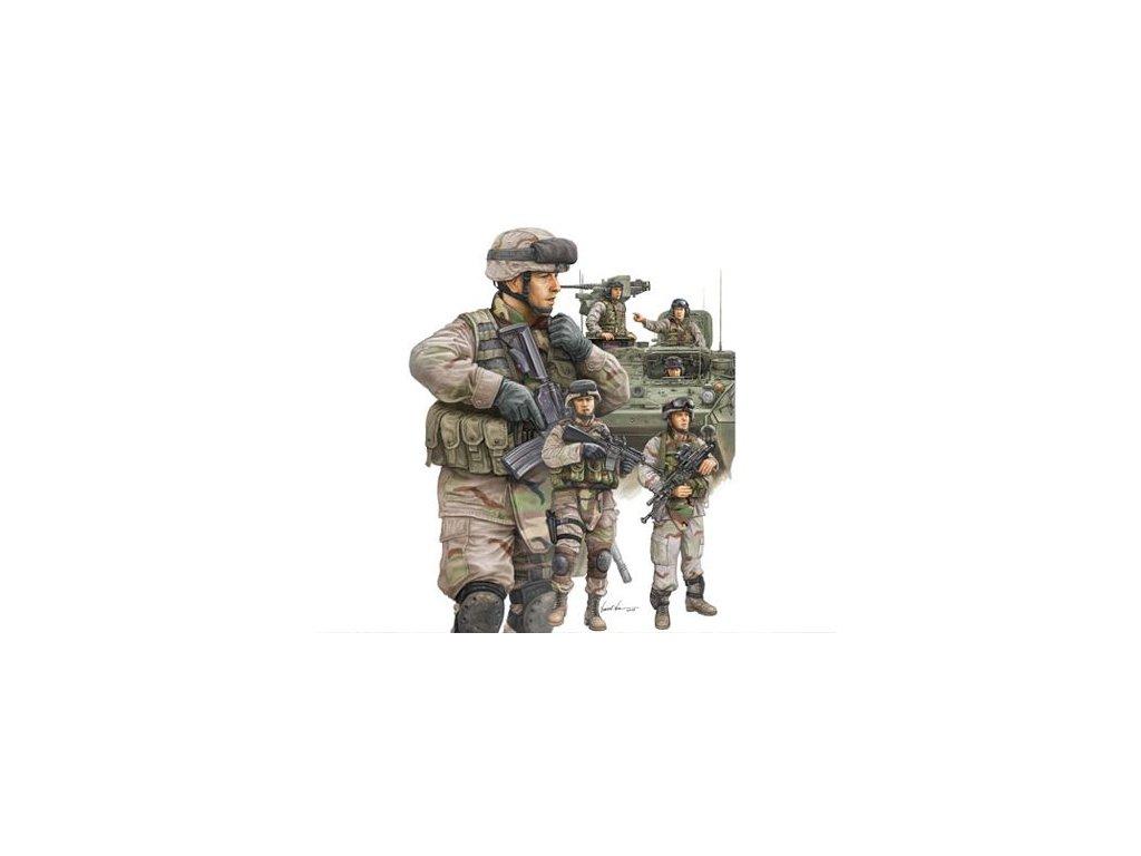 Modern US Army Armour crewman & infantry / moderná US posádka a pechota 1:35