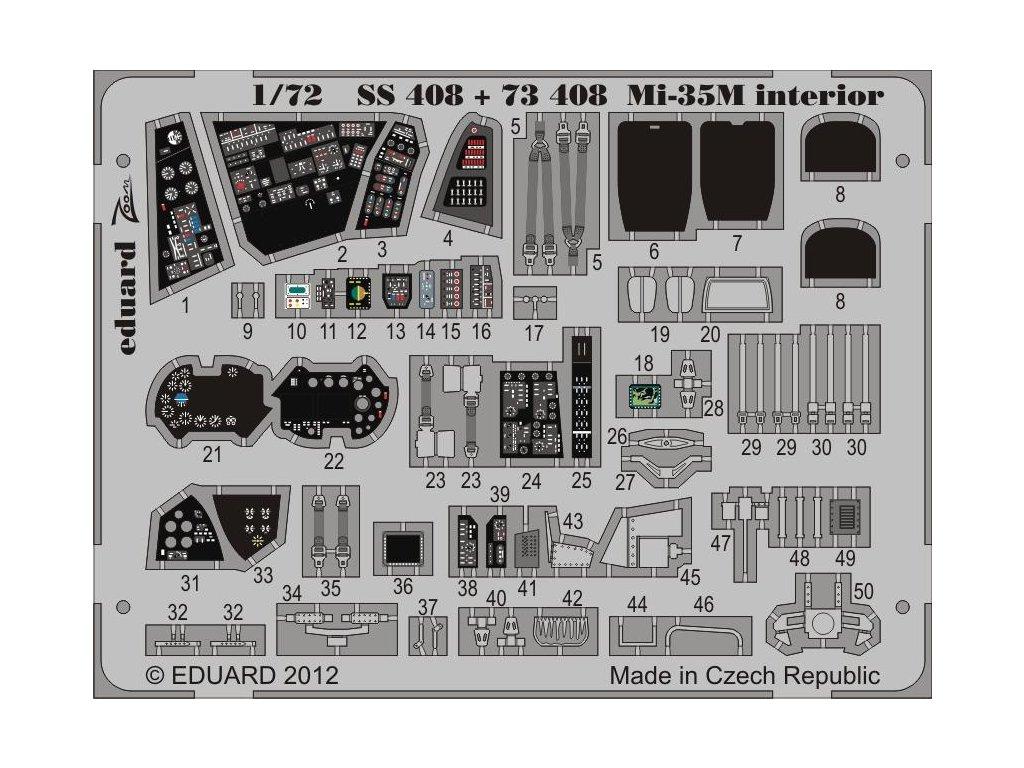Mil Mi-35 interiér S. A. (Zvezda) 1:72