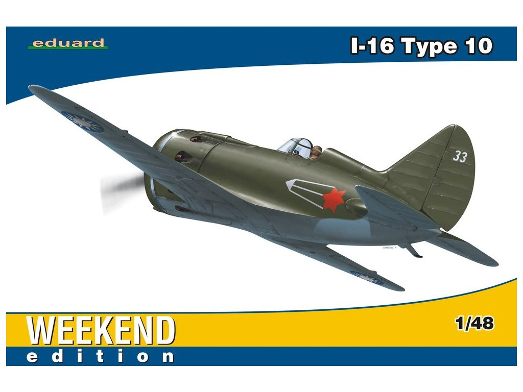Polikarpov I-16 type 10 Weekend 1:48