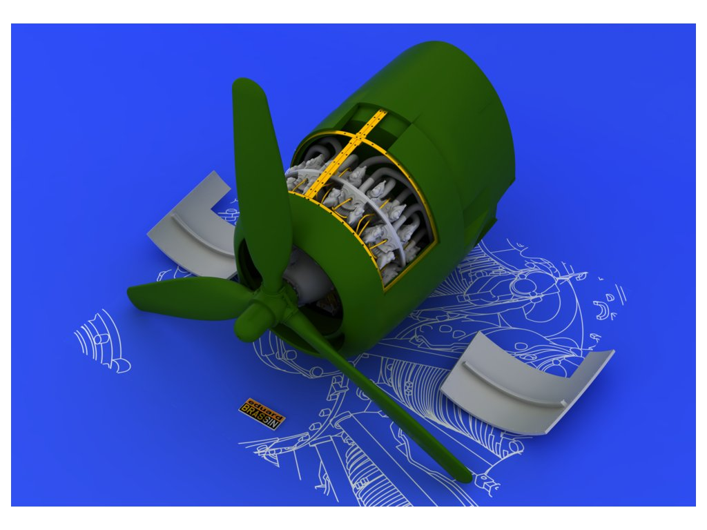 Motor pre R-2800-10 (Eduard) 1:48