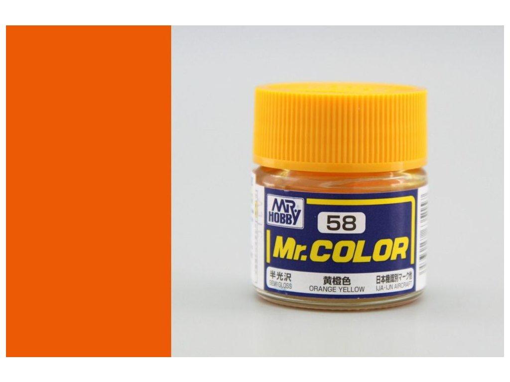 C058 Orange Yellow - Oranžovo žlutá