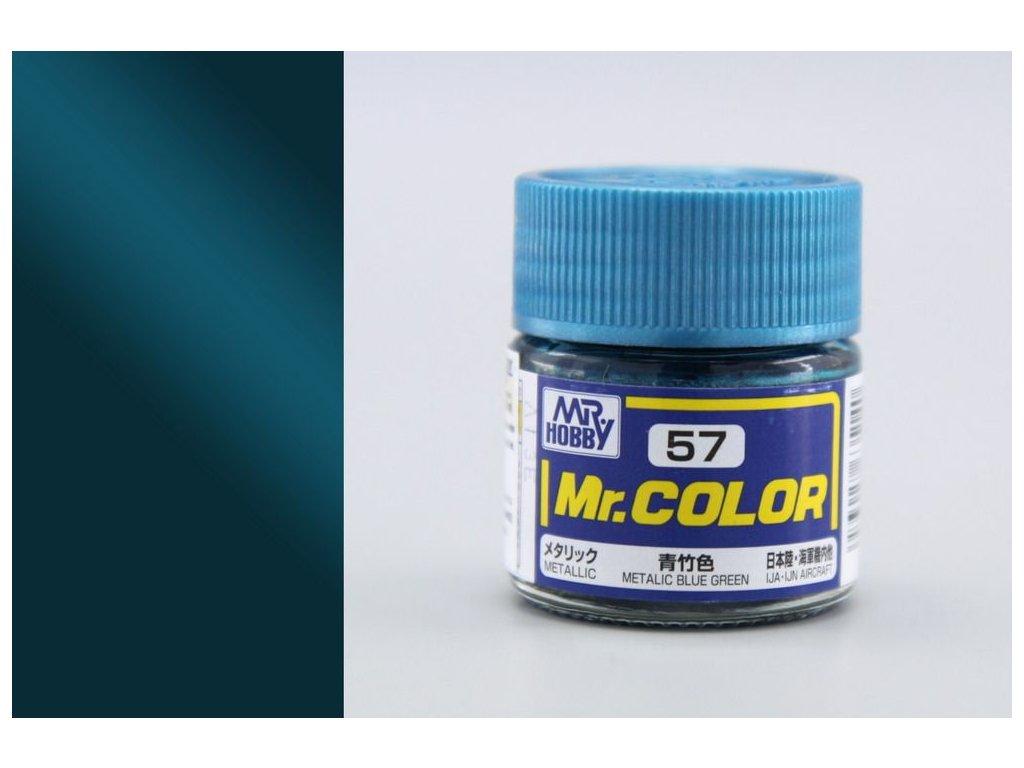 C057 Metallic Blue Green - Kovovo modrozelená