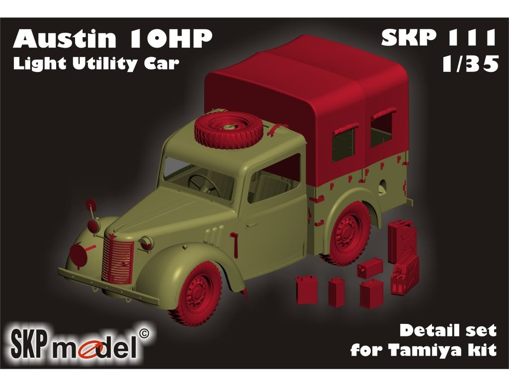 Austin 10HP - DETAIL SET FOR TAMIYA KIT 1:35