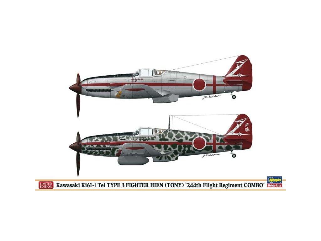 """Kawasaki Ki61-I Tei Type 3 Fighter Hien (Tony) """"244th FR Combo"""" (2 modely) 1:72"""