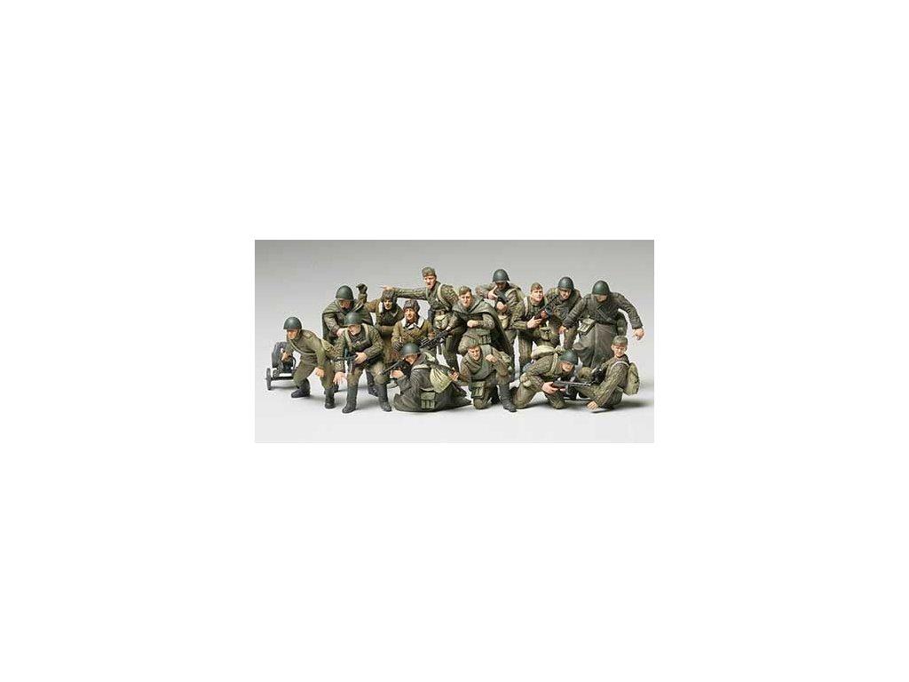 Rus. Infantry+Tank Crew / Ruská pechota a osádka tanku 1:48