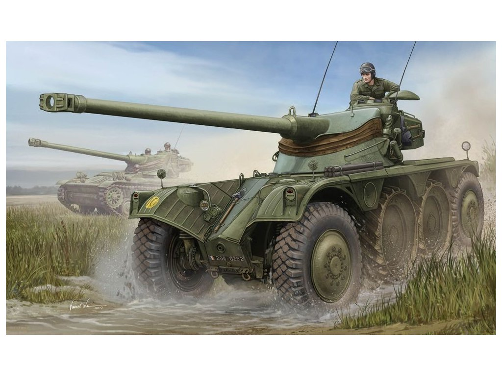 French EBR-10 Wheeled Reconnaissance Vehicle 1:35