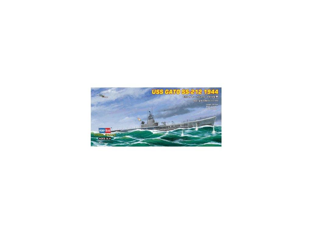 USS GATO SS-212 1944 1:700