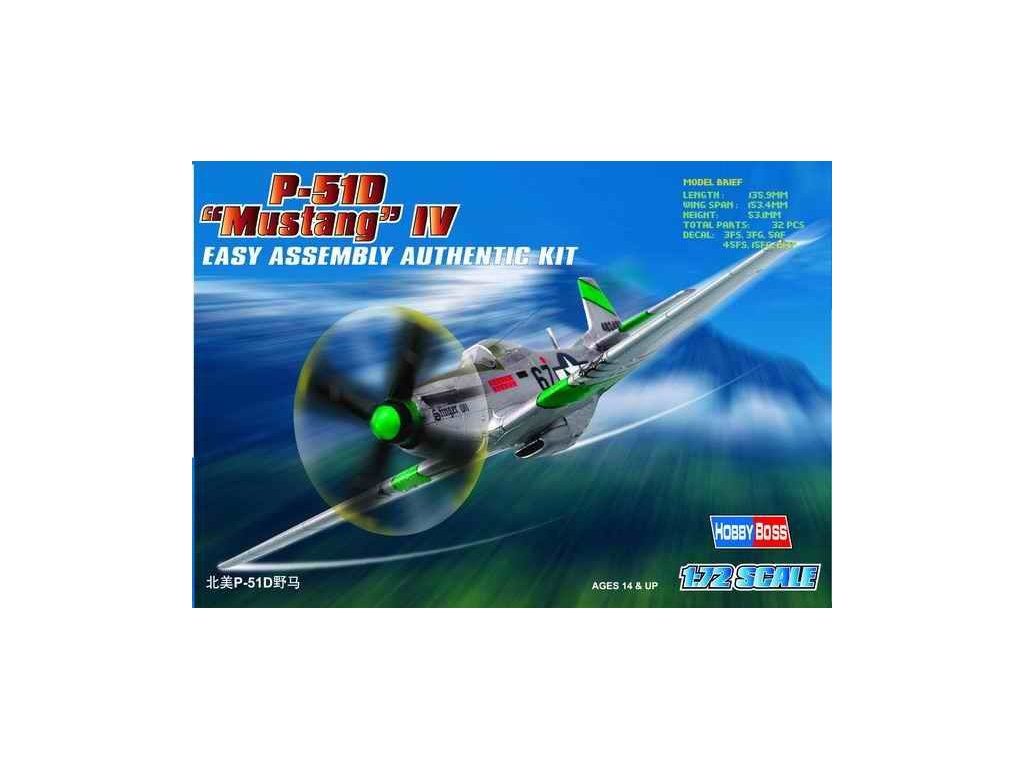 North American P-51D Mustang IV 1:72