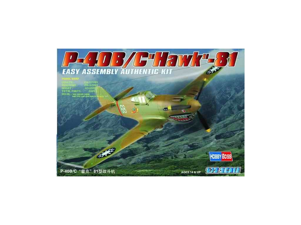 Curtiss P-40B/C Hawk-81 1:72