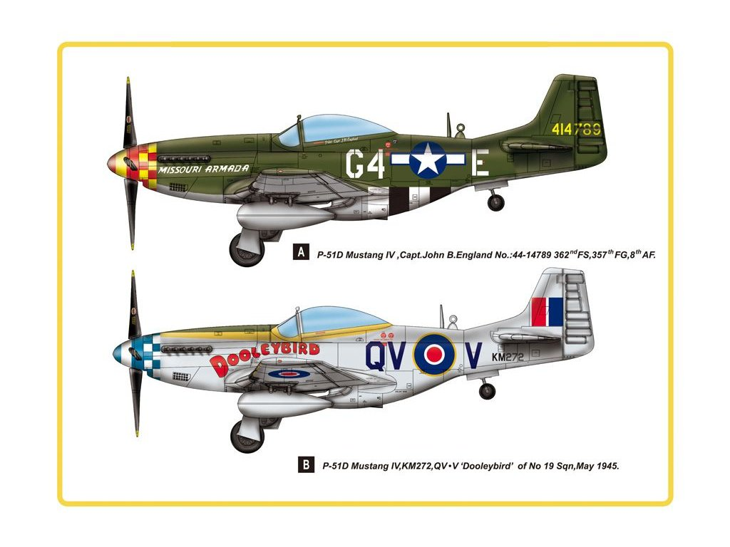 North American P-51D Mustang IV Fighter 1:48