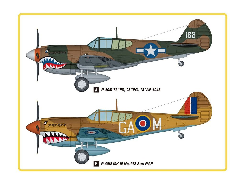 Curtiss P-40E Kitty Hawk 1:48