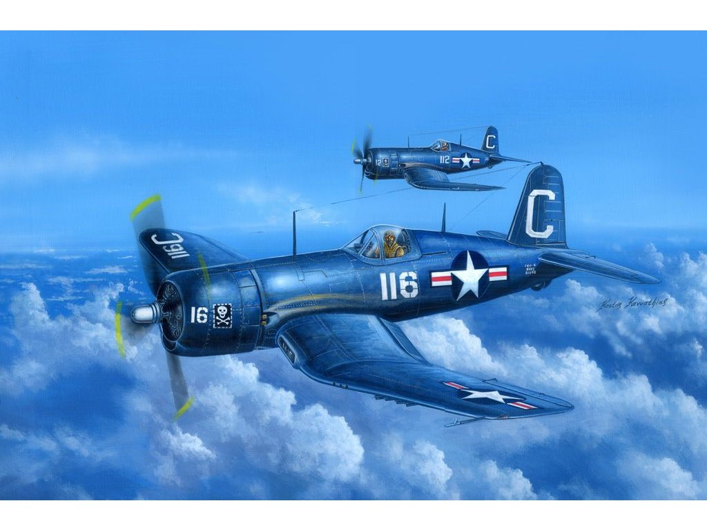 Chance Vought F4U-4 Corsair early version 1:48