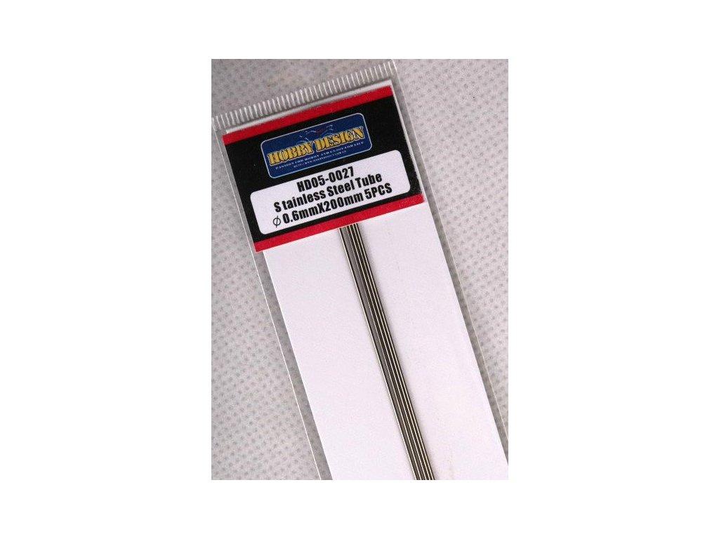 Trubice z nerezovej ocele Stainless Steel Tube 0.6mm*200mm
