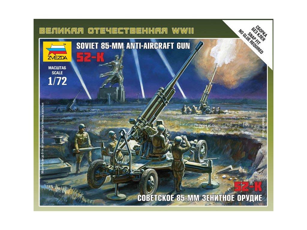 Sovietské 85mm protilietadlové delo M1939 (52-K) 1:72