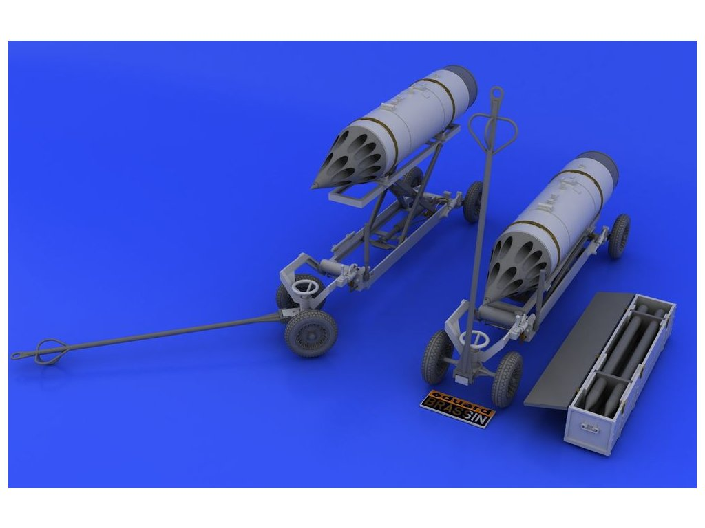 B8M1, raketnica a navesovací vozík 1:48