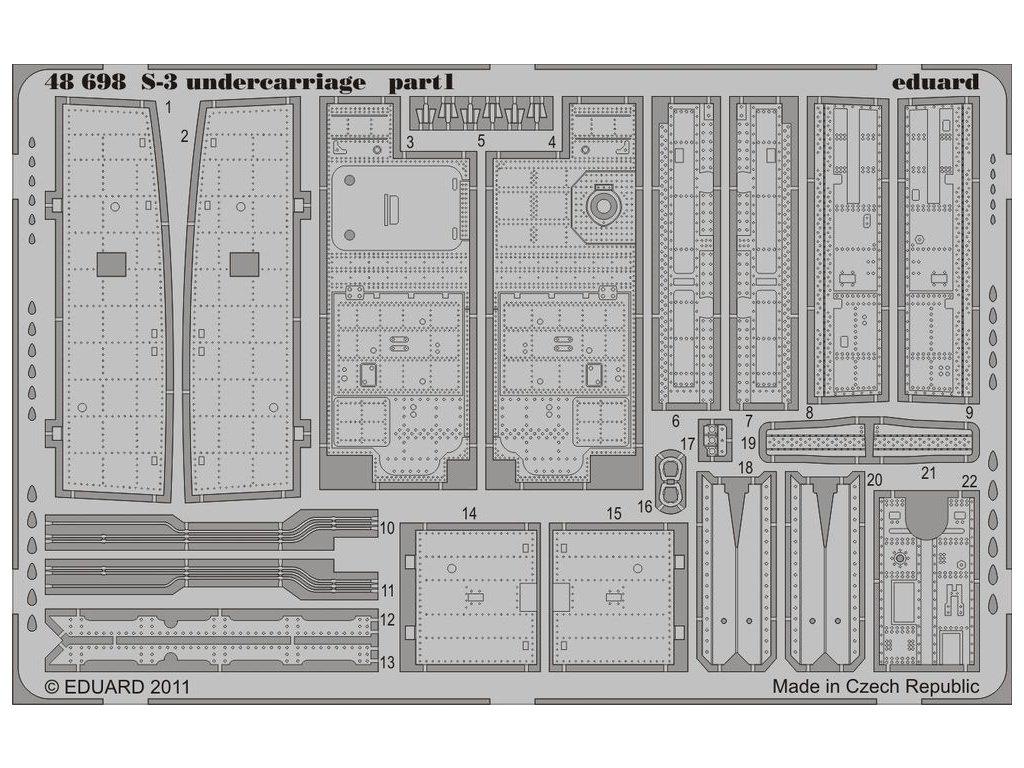 S-3 podvozok 1:48 (Italeri) 1:48