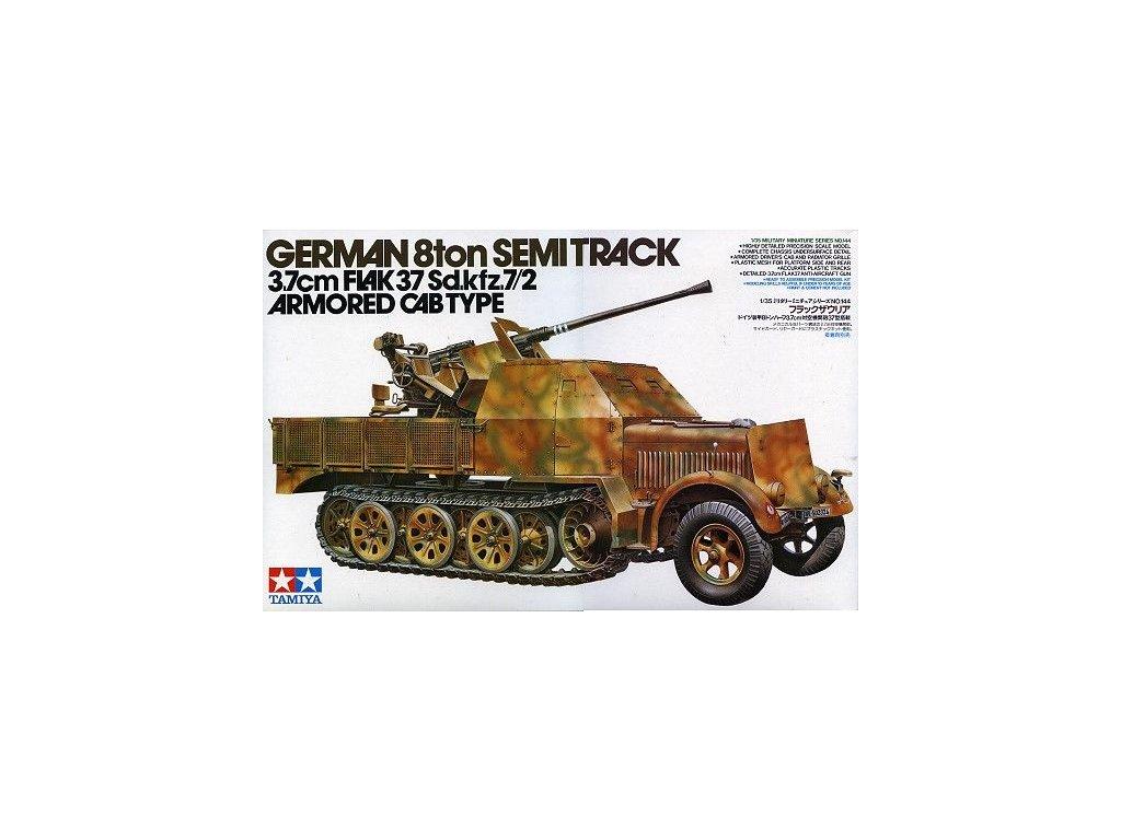German 8 ton Semi Track 3.7cm Flak 37 Sd.kfz.7/2 1:35