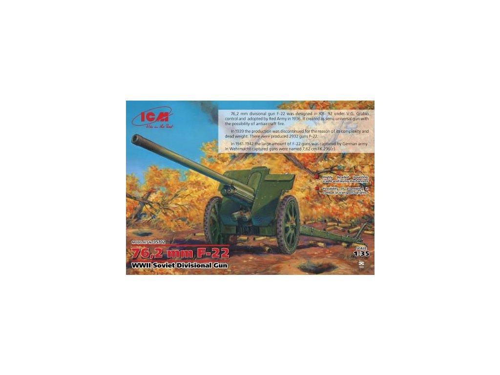 76,2mm soviet gun F-22 1:35