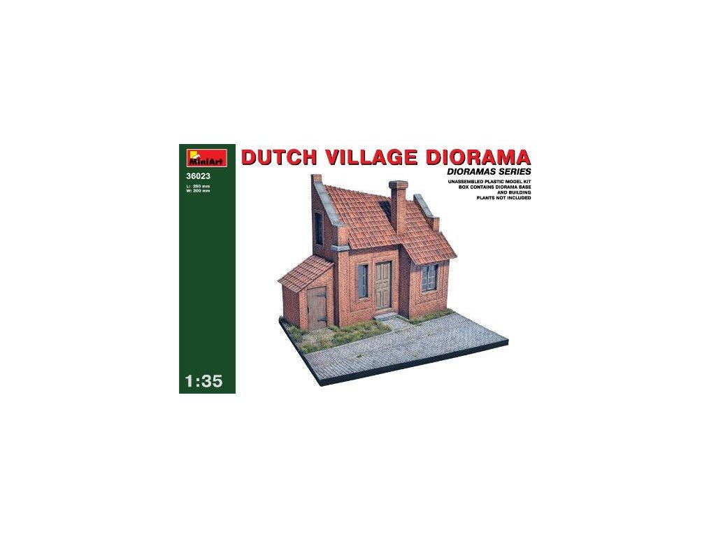 Dutch village diorame / dioráma holandský vidiek 1:35