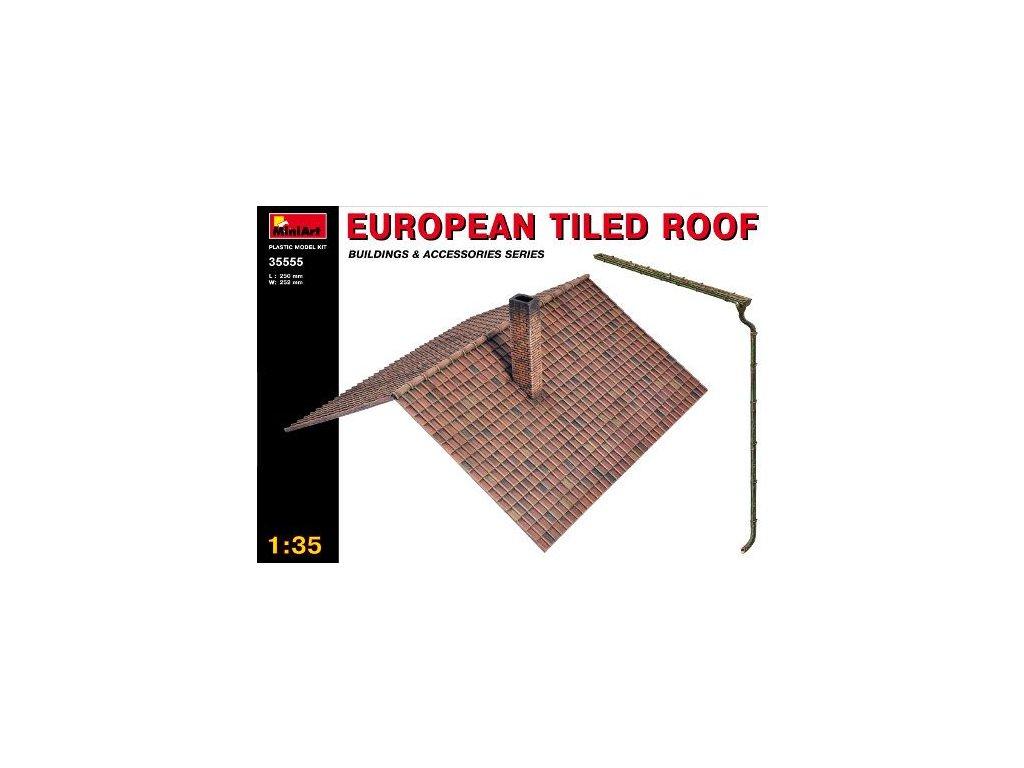European tiled roof / európska škridľová strecha 1:35