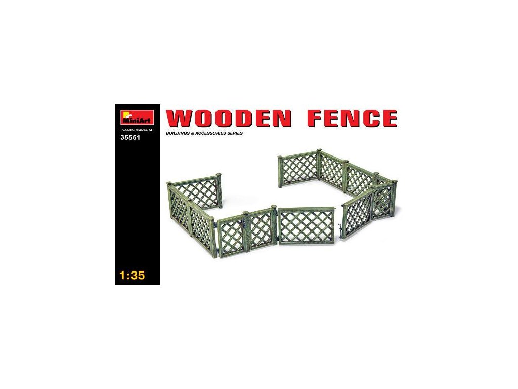 Wooden fence / drevený plot 1:35