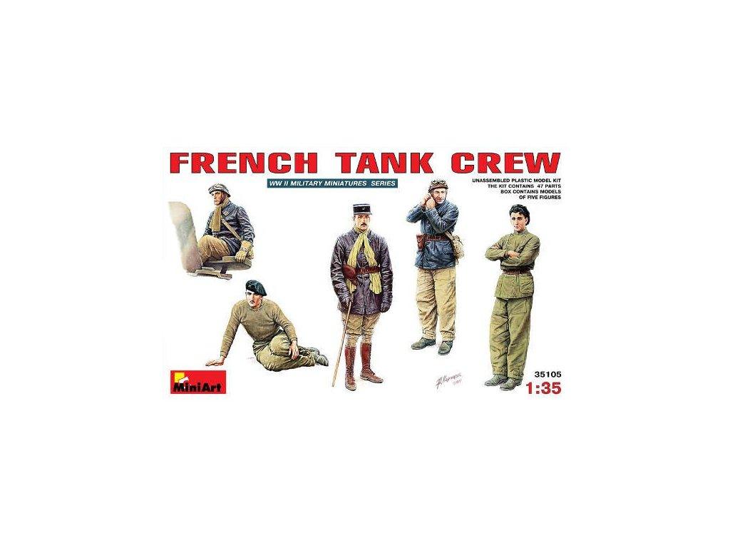 French tank crew / fancúzsky tankisti 1:35