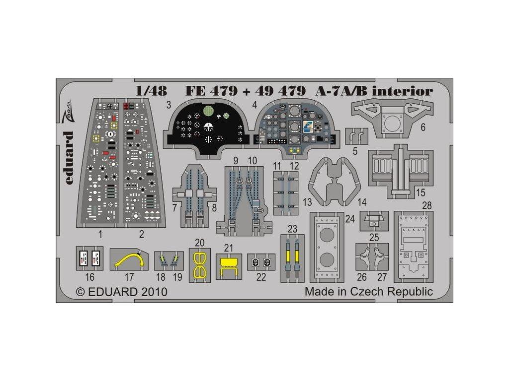 A-7A/B interior S.A. 1:48 (Hobby Boss) 1:48
