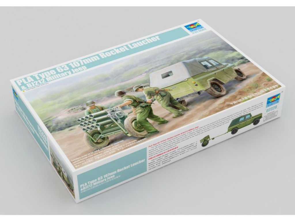 PLA Type 63 107mm Rocket Laucher & BJ212 Military Jeep 1:35