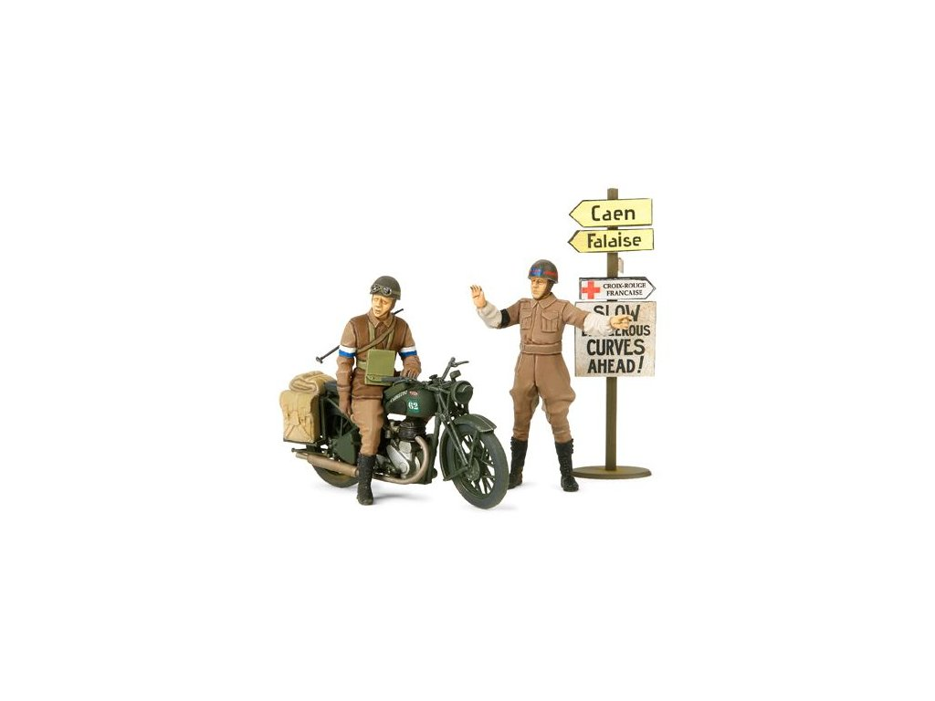British BSA M20 Motorcycle w/Military Police Set 1:35