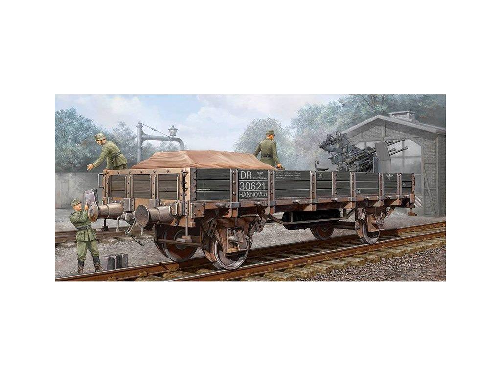 German Railway Gondola (Lower sides) / nemecký nákladný vagón (nízke bočnice) 1:35