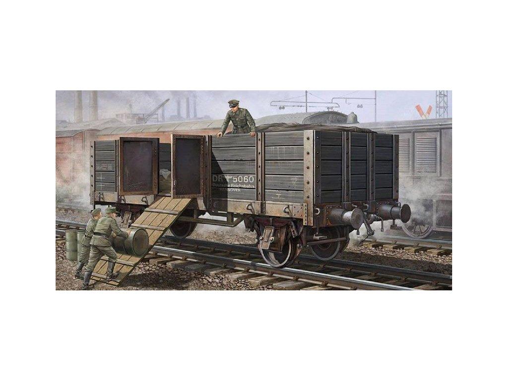 German Railway Gondola / nemecký nákladný vagón 1:35