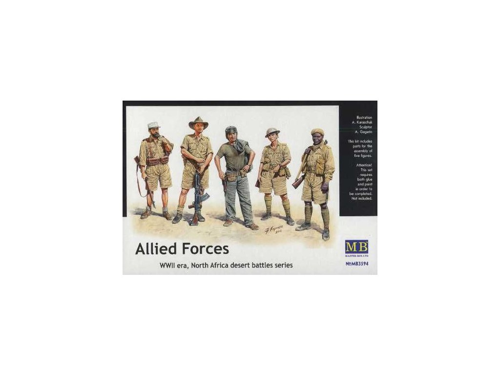 Allied Forces, North Africa, WWII, desert battles series 1:35