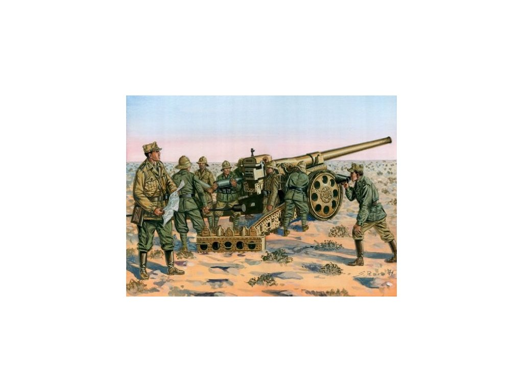 WWII: Italian Cannone da 149/40 w/crew 1:72