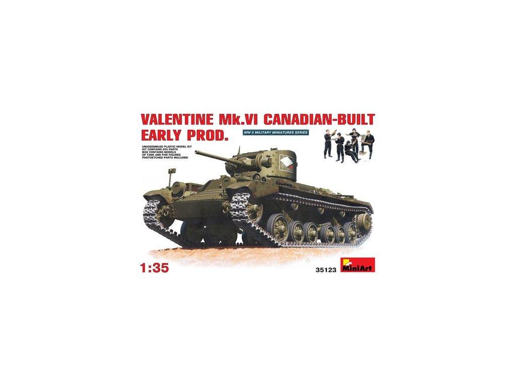 Valentine Mk. VI Canadian built / kanadská verzia 1:35