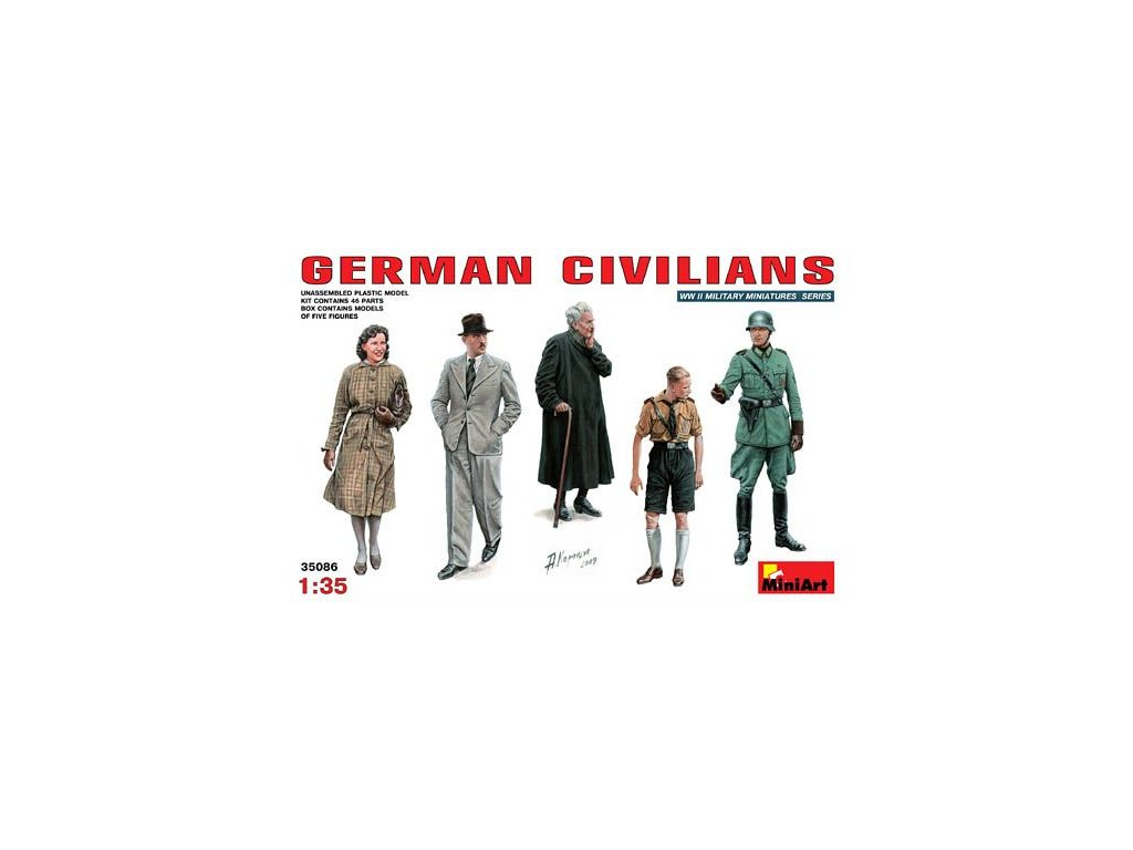German Civilians / nemeckí civilisti 1:35