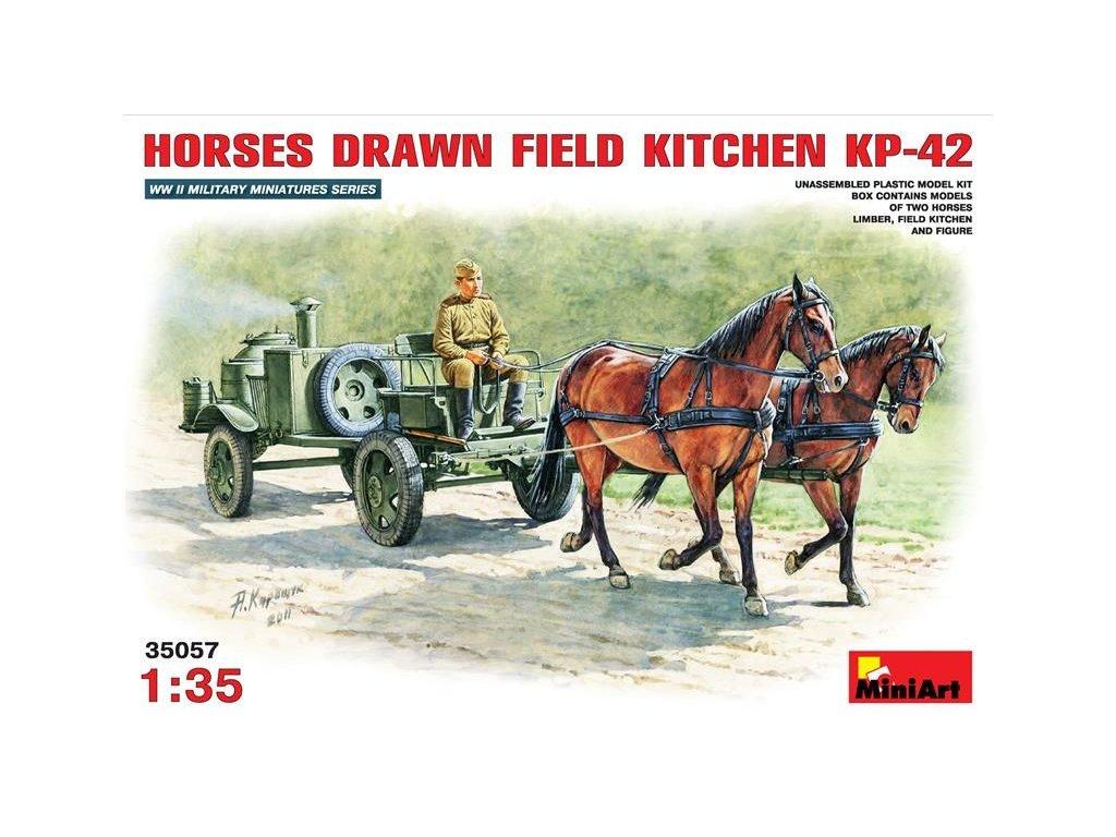 Horses Drawn Field Kitchen KP-42 / konský záprah s poľnou kuchyňou 1:35