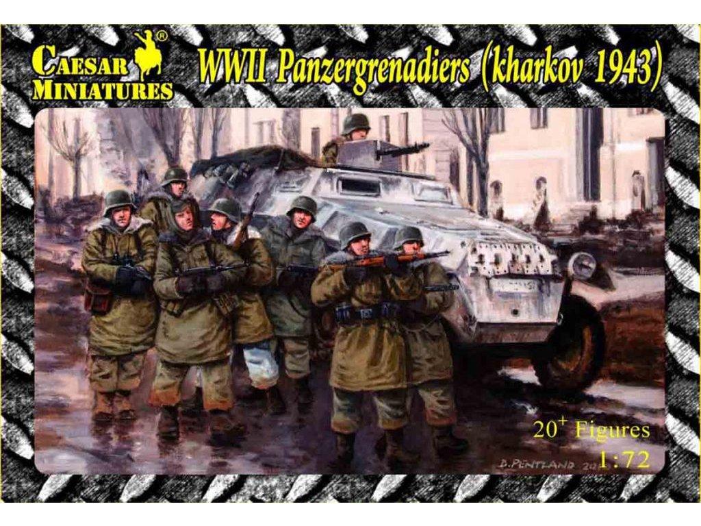 WWII Panzergrenadiers (Kharkov 1943) 1:72