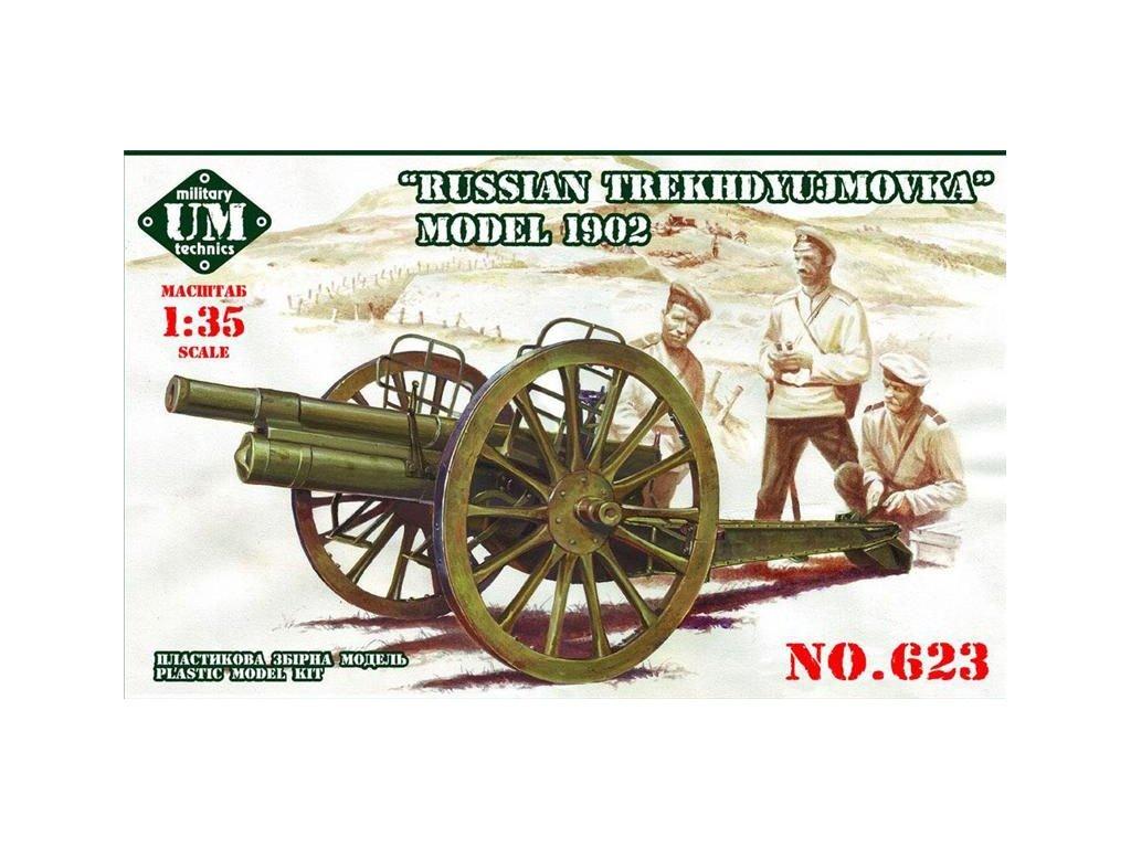 Russian gun model 1902 1:35