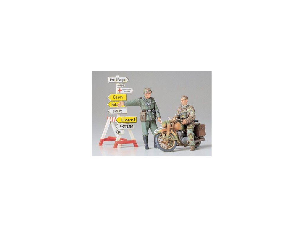 German Motorcycle Orderly Set 1:35